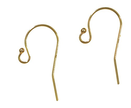 Round Kidney Wire Earrings (uGems 14kt Yellow Gold Earwires .026