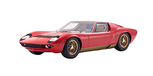 Lamborghini Miura P400S Red with Gold Bottom Limited Edition to 350 Pieces Worldwide 1/12 Model Car by Kyosho KSR 12501 ()