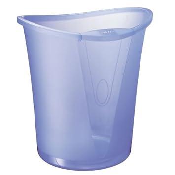 LEITZ 5204-00-05, Cestino per carta, 18 L, plastica, rotondo, diametro: 335 mm, altezza 340 mm, colore: Blu cristallo 52040005