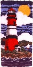 WonderaArt Caron 20 X 20 Latch Hook Kit Lighthouse by Caron International