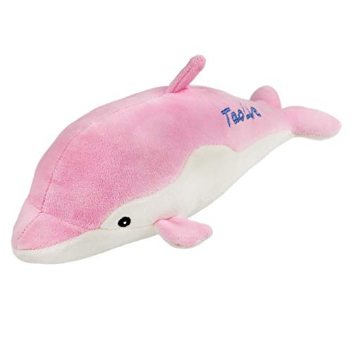 Athoinsu Dolphin Stuffed Sea Animals Realistic Ocean Life Soft Plush Toys Collection Floppy Home Office Decor Kids' Festival Gifts, Pink, 12''