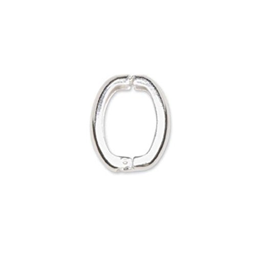 Silver 10mm Loop Clasps - 6