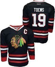 Jonathan Toews  19 Chicago Blackhawks Reebok Youth Black Premier Jersey  (Small Medium) 2bf40b772