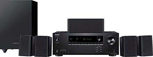 Onkyo HT-S3910 Home Audio Theater Receiver and Speaker Package, Front/Center Speaker, 4...