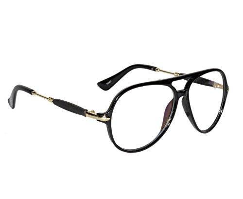 3eb2f98cde Peter Jones Classic Black Aviator Unisex Optical Frame (RX957B)  Amazon.in   Clothing   Accessories