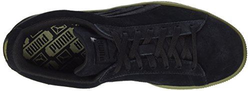 Puma Unisex-Erwachsene Suede Classic Badge Flip Em Sneaker Schwarz (Puma Black-Capulet Olive)