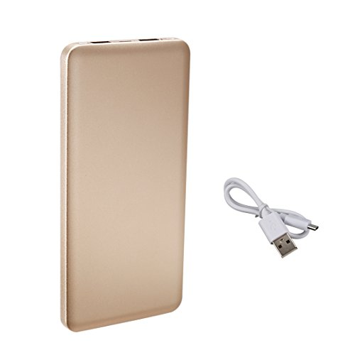 uxcell 8000mAh Portable Charger, Extremely Thin, Power bank, Dual USB Ports, for iPhones, Android, iPads, Tablets, MP3, MP4 Players and Cameras, Rose Gold by uxcell