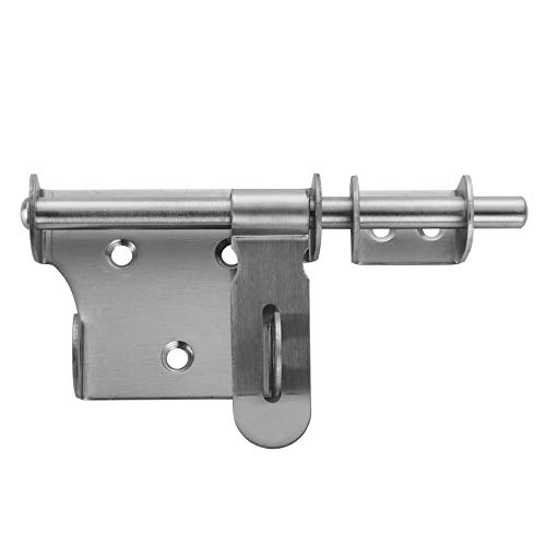 - JQK Sliding Bolt Gate Latch, 6 Inch Thickening Stainless Steel Barrel Bolt with Padlock Hole, Interior Door Latches Brushed Finish