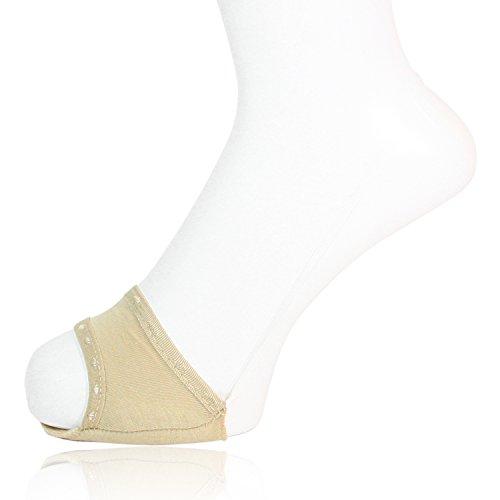 (ワイエヌエムビー)YNMB 6足組 レディース つま先カバー オープントゥ 透明ストラップ フットカバー パンプス用 ソックス 22~24cm 3色アソート (グレー/ベージュ/ブラック) 婦人用 靴下