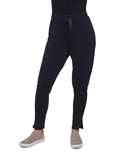 Seek No Further by Fruit of the Loom Women's Fleece Jogger Sweatpants, Brilliant Black, L