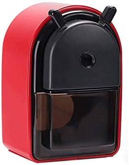 Z-COLOR マニュアルデスクトップ鉛筆削り180ロータリーヘリカル鉛筆カッター学校文房具鉛筆削りノンスリップハンドルハンドクランク削り (Color : Red)