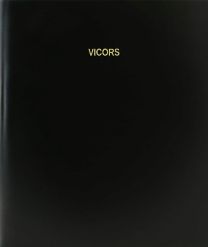 Bookfactory  Vicors Log Book   Journal   Logbook   120 Page  8 5 X11   Black Hardbound  Xlog 120 7Cs A L Black Vicors Log Book
