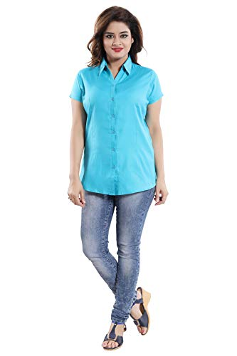 QUEEN SHIELD Office Wear Formal & Casual Half Sleeves Matty Shirt for Women |All Small and Plus Sizes