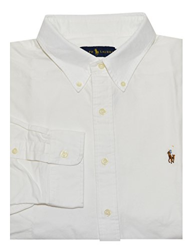 Polo Ralph Lauren Men's Classic Oxford Shirt (Large, White) (Classic Oxford Oxford Shirt)