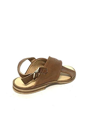 Italy Vintage Pelle Marrone Tacco In Made Sandali Vera Shoes Basso Zeta Mainapps Donna xqXRvOY