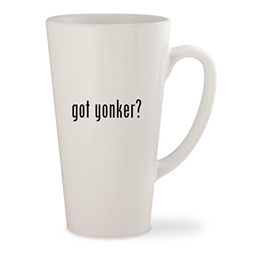got yonker? - White 17oz Ceramic Latte Mug Cup (Tyler Beanie)