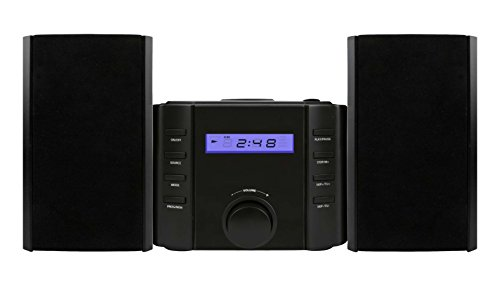 Sylvania SRCD804BT CD Microsystem with Radio and Bluetooth