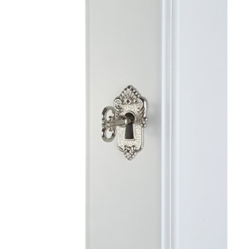 Homegear Modern Door/Wall Mounted Mirrored Jewelry Cabinet Organizer Storage White by Homegear (Image #4)