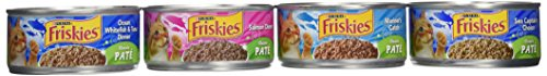Friskies Wet Cat Food, Classic Pate, Seafood, 4-Flavor Varie