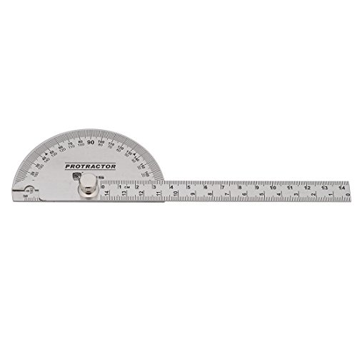 s Steel Protractor 180 Degrees Angle Ruler Finder 140mm Metric Durable Metal Adjustable General Measuring Tool (Protractor Metal)