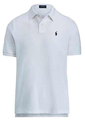 Polo Ralph Lauren Men's Classic Fit Mesh Polo Shirt (Medium, White 7105)