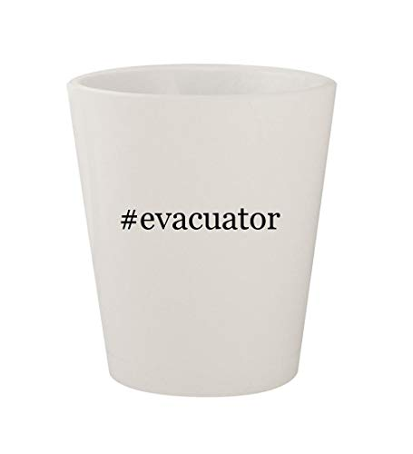 #evacuator - Ceramic White Hashtag 1.5oz Shot Glass (Smoke Evacuation Tube)