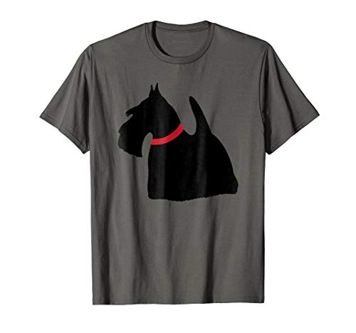 Scottish Terrier Collars (Scottish Terrier with Red Collar Scottie Dog Gift Tshirt)