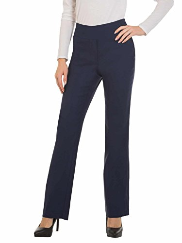 Red Hanger Bootcut Dress Pants for Women -Stretch Comfy Work Pull on Womens Pant Navy-L
