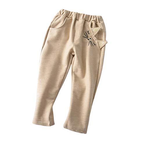 Ragazzi Lunghi Del Casuali Bambino Ragazze Stampati Kinlene Pantaloni Dei Fumetto Giallo Gatto Delle 4B56wAqxnv