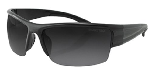 Bobster Caliber Sport Sunglasses,Black Frame/Smoke,Clear & Amber Lens,One Size