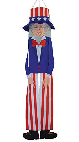In the Breeze 5064 Uncle Sam Buddy Windsock-Hanging Outdoor Decoration, 40 Inches,
