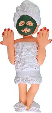 Female Spa Christmas Ornament