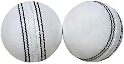 AnNafi - Pelota de Cricket de Piel, Color Blanco, Grado A, Cosida ...