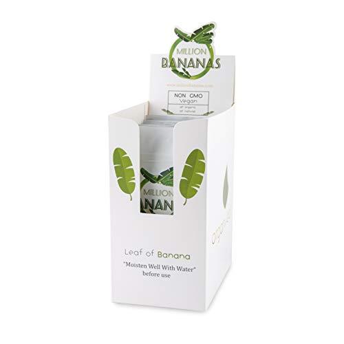 Million Bananas - Banana Leaf Wrap Rolls - 2 Leaves/Pack - (25 Pack Display Box)