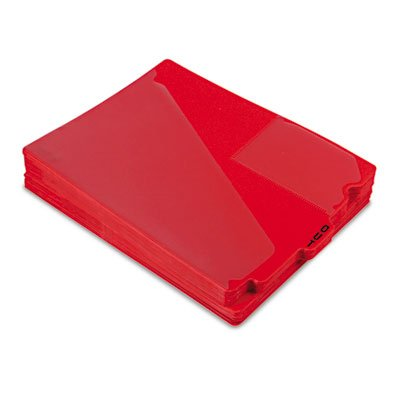 End Tab Poly Out Guides, Center ''''OUT'''' Tab, Letter, Red, 50/Box, Sold as 50 Each