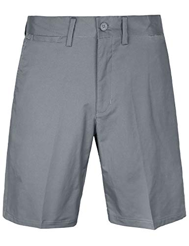 (Bakery Men's Golf Shorts Relaxed Fit Cool Quick Dry Flat Front Tech Performance Chino Pants Size 44 Grey)