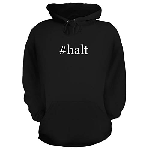(BH Cool Designs #halt - Graphic Hoodie Sweatshirt, Black, XXX-Large)