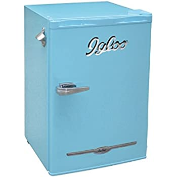 Amazon Com Igloo Fr376 Blue 3 2 Cu Ft Retro Bar Fridge