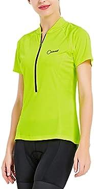 CATENA Women's Cycling Jersey Short Sleeve Workout Shirt Running Top Moisture Wicking Workout Sports T-S