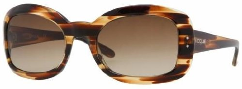 Vogue Sunglasses Striped Brown Brown