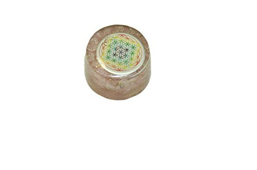 Jet Rose Quartz Flower of Life Orgone Tower Buster Piezo Electric EMF Protection Generator Frequency Ions Tested Cloud Chem Buster