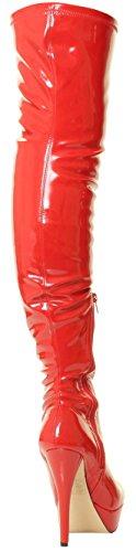 Taille Plateforme Cuisse Plus Bottes Cuissarde Cuissardes Rouge Blanc De Tilly À Stiletto London Genou Étendue Rose Fétiche Sexy Noir Talons Hauts CRwxAxOf6q