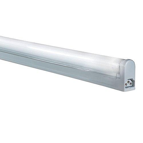 (Jesco Lighting SG5-21/35 Sleek Plus Classic Grounded 21-Watt T5 Light Fixture, 3500K Color, White Finish)