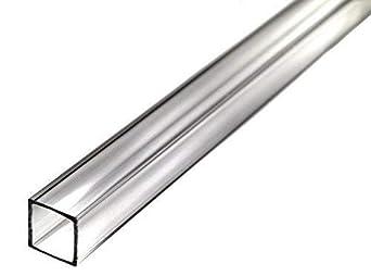 Acrylic Square Tube 3//8 ID 1//2 OD 1//16 Wall x 12 Length 10 Pack