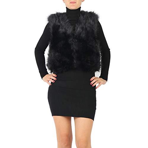 Unique Femme Dayfa Taille Manteau Manche Sans Veste Noir 8cqqTOCw