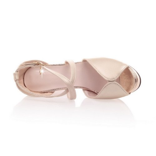 Balamasa Donna Fibbia Tacco Alto Sandalo Scarpe Oro