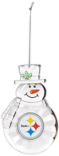 (NFL Pittsburgh Steelers Traditional Snowman Ornament)
