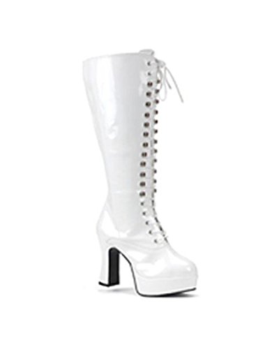 Calf Lace Up Women's White Boots ()