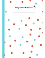Composition Notebook: Polkadot Composition Notebook Wide Ruled size A4