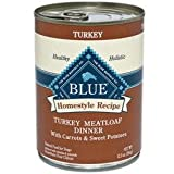 Blue Buffalo Canned Dog Food, Turkey Meatloaf Dinner (Pack of 12 12.5-Ounce Cans), My Pet Supplies